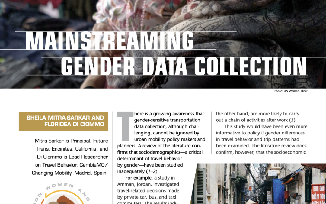 Mainstreaming Gender Data Collection
